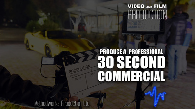 Produce a professional 30 second television commercial