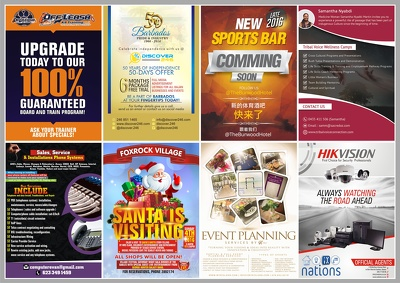 Create a stunning & awesome ONE PAGE Flyer/Poster Design