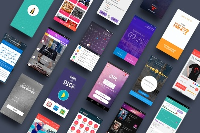 Design creative modern MOBILE APP UI for ios and android