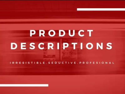 Write a Killer Product Description to BOOST Sales