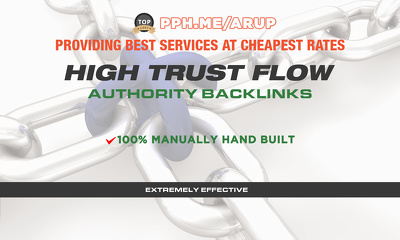 Do 6 Manual High Trust Flow Backlinks