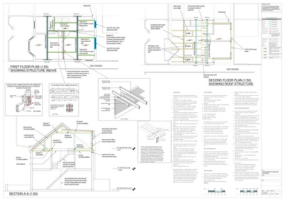 Set of Building Regulations drawings and structural calculations