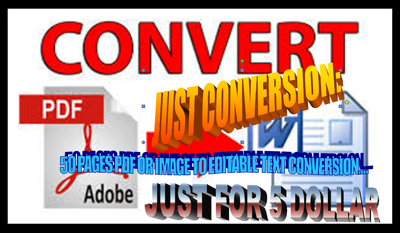 Convert only 80 pdf or image pages into word and text without any formatting.