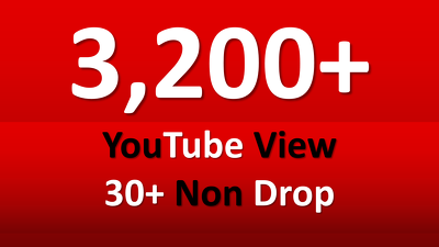 Fast 3,200+ YouTube Views and 30 likes free