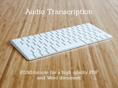 Transcribe 60 minutes of audio/video