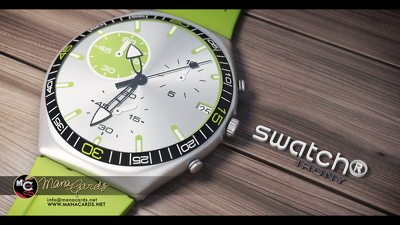 Design a 3d model of any timepiece with 2 photorealistic views