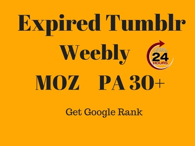 Find Expired Tumblr, Weebly Domain