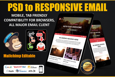 Convert Psd to Responsive HTML Email Newsletter