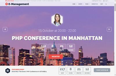 Design Event Or Any Management System Website