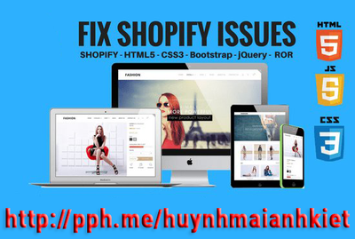 Fix Shopify issues and Shopify bugs for your online store