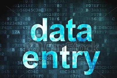 Do all type of data entry work in 1 hours