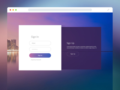 Create full functional login and signup forms