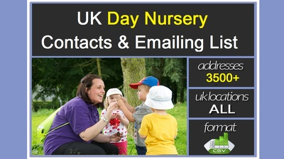 Give you 3500 plus UK DAY NURSERY Contact/Email list