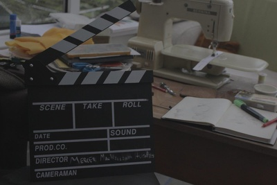 Add your text to a movie clapperboard for an intro/film/logo