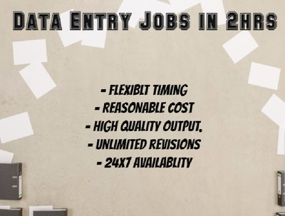 Deliver high quality, Error Free data Entry and Copy Typing jobs