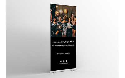 Design a roller banner / exhibition banner / pull up banner