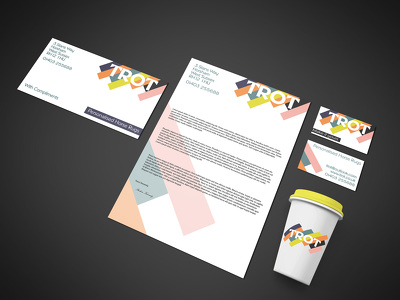 Design your business card, letterhead, invoice template and compliments slip