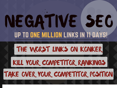Negative seo and Negative backlinks for might be down rank your competitor