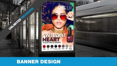 Design you a professional banner of all shapes and sizes