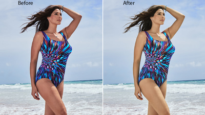 Do  glamour retouching or makeup type retouch 7 images