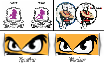 Convert or vectorize Low Res Logo, Icon to vector