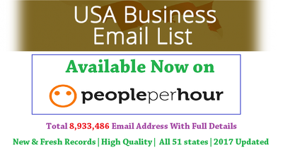 Provide USA Business email marketing list (8,933,486 b2b email address)