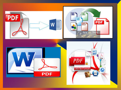 Do convert 20 pages PDF to Word, excel, scanned file to PDF form in 2 hours.