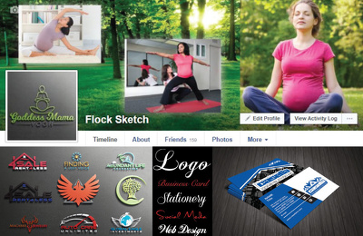 Unique logo Design Stationery  Social Media Kit with source file