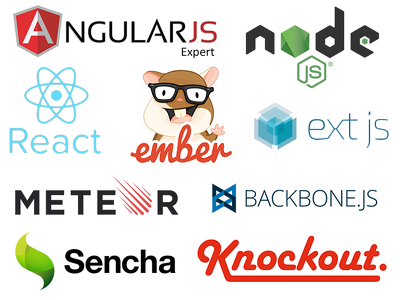 Develop Node JS, React JS, Backbone Js or Knockout JS webapps