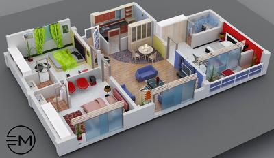 Convert boring 2d floor plans into impressive 3d floor plans