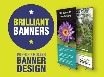 Design a roller / pop-up banner