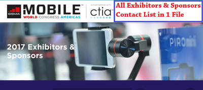 Mobile World Congress 2017 Exhibitors & Sponsors Contact List