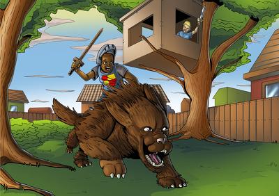 Create High quality cartoon/comic style illustration