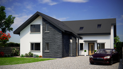 Create a stunning exterior 3D visual