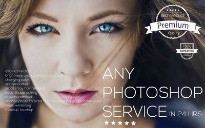Professional any photoshop service (all) with special effects in 24hrs