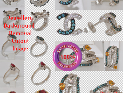 Professionally background removal from 5 Jewellery photo / image
