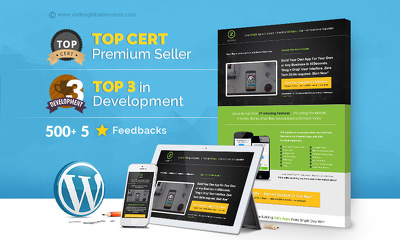 Create fully responsive 5-page Wordpress website + Premium theme for FREE