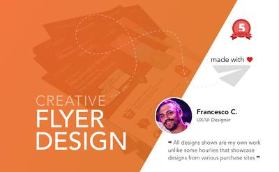 Design a professional single side Flyer/Leaflet