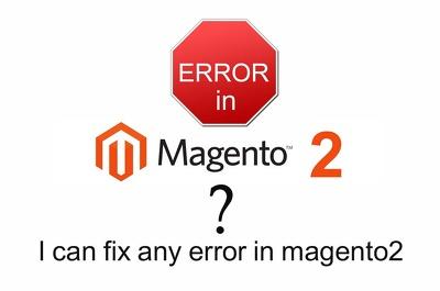 Fix any magento2 errors