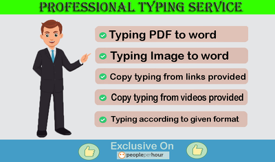Professional Typing Job Upto 30 Pages In 12 Hours