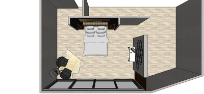 Create sketchup model of your apartment, office, from 2D plan