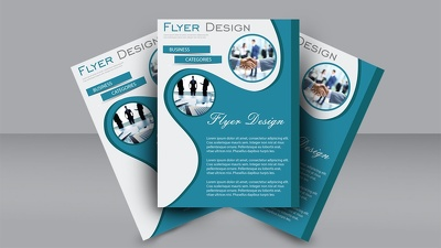 Design flyer, poster, banner, stickers, brochure, b-card. etc