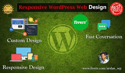 Build you a responsive Wordpress website, Ecommerce Store, Blog