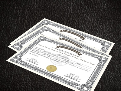 Design a creative certificate or diploma