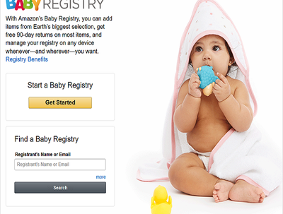 Do 100 amazon baby registry by searching keywords