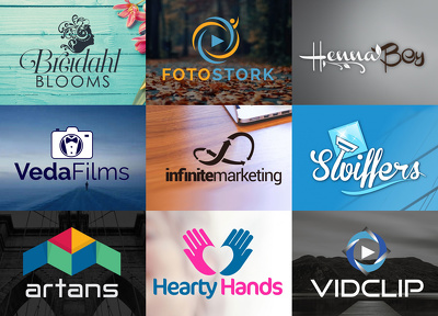 create a professional logo with 3 concepts in 10 hours with unli