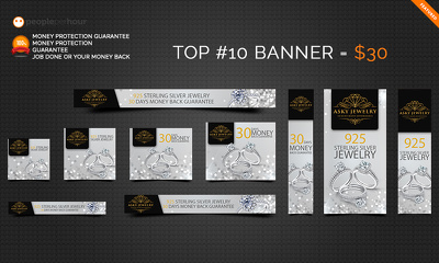 Custom Banner Set for Google Adwords - 10 Sizes