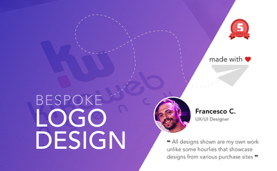 Bespoke business Logo Design + Unlimited Revisions + Favicon