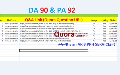 Question & Answer Links: Answer 3 Quora Questions + Add Your Link - Quora Marketing