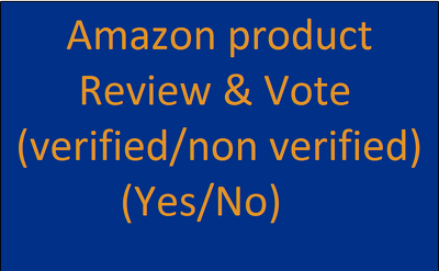 Amazon product Review (verified/non verified) & Vote (Yes/No)
